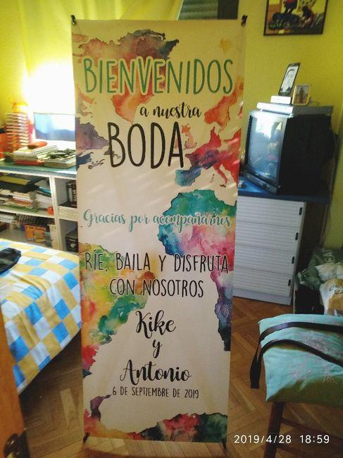 Nuestro cartel de Bienvenida!! 2