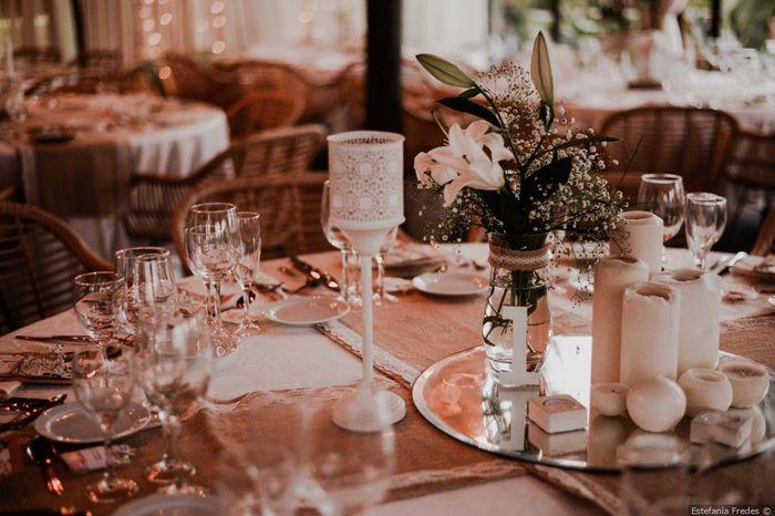 2 bodas, 2 centros de mesa. ¿Cuál prefieres? 2
