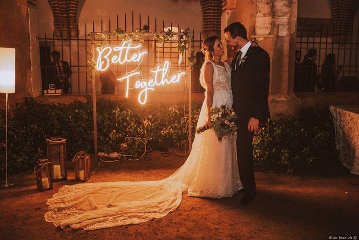 ¿Te mola esta iluminación para vuestra boda? ❤️️ 1