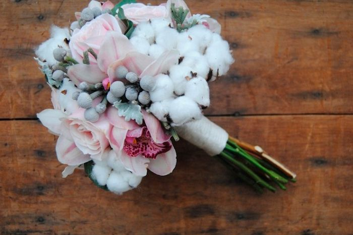 Ramo con flores de algodón: ¿Sí o No? 1