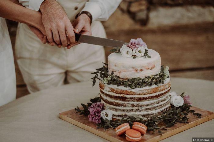 No puedo resistirme a esta tarta nupcial, ¿verdad o mentira? 😋 1