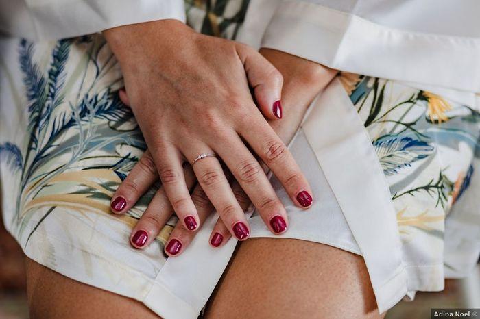 ¿Cuántos días antes de la boda te harás la manicura? 1