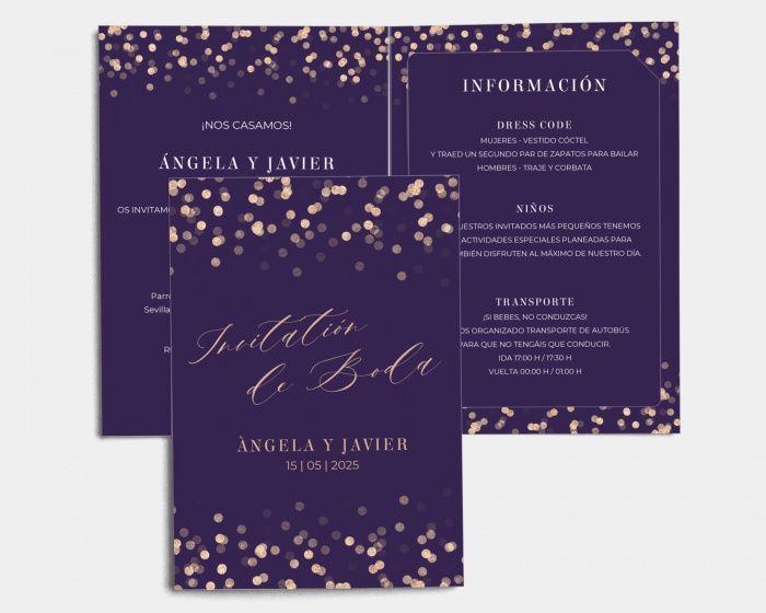 Mis invitaciones: ¿con detalles dorados? 2