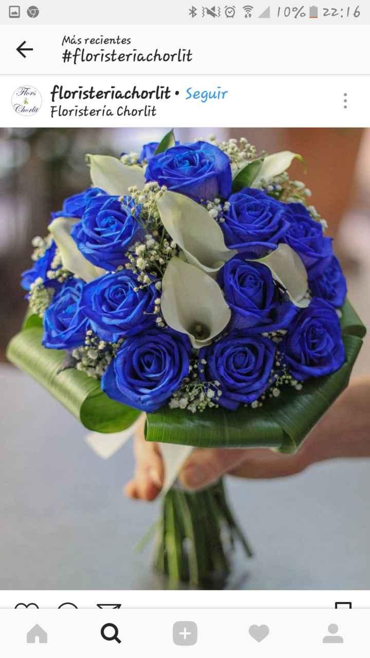 Ramos de novia azules - 1