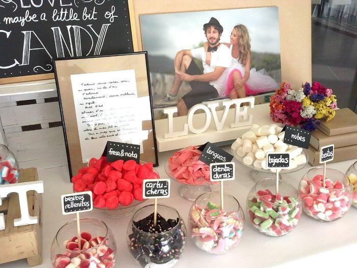 Mesa dulce o candy bar organizar una boda foro - Mesa de chuches para bautizo ...