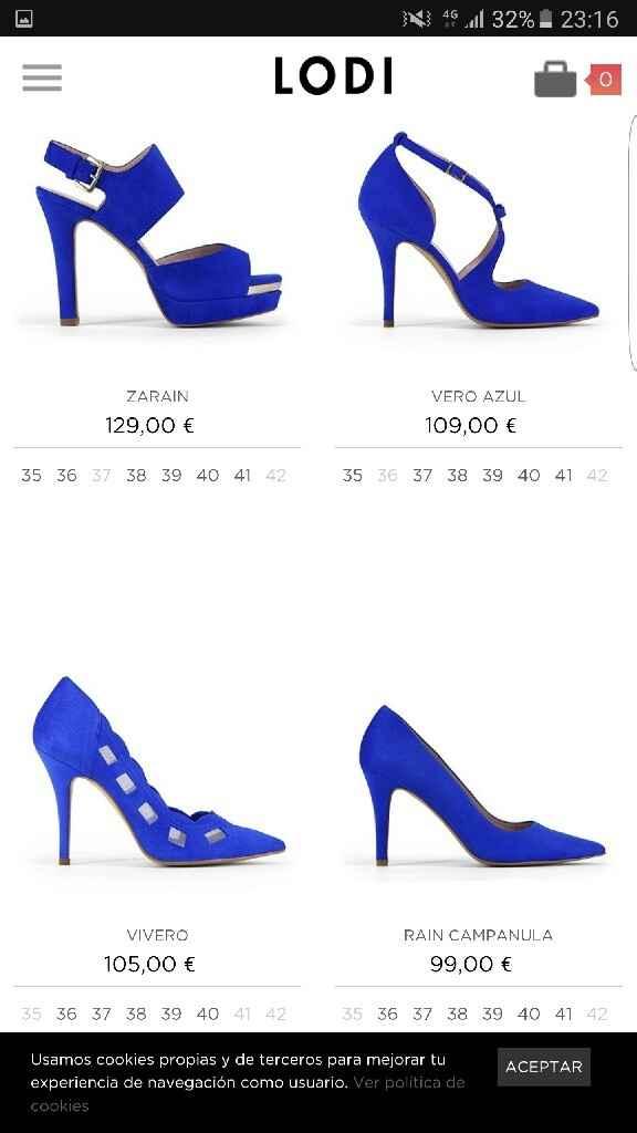 Zapatos novia azules - 2