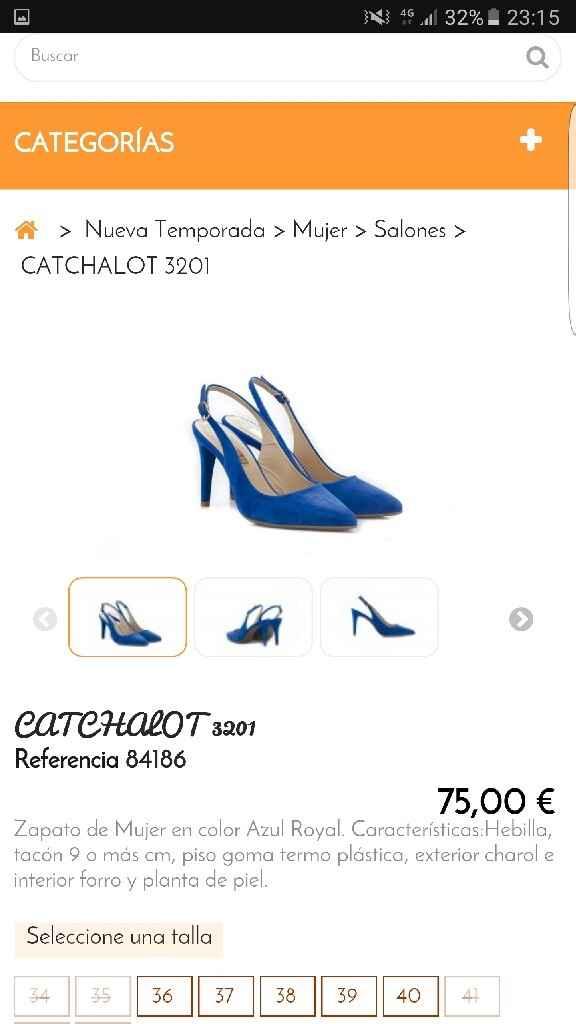 Zapatos novia azules - 3