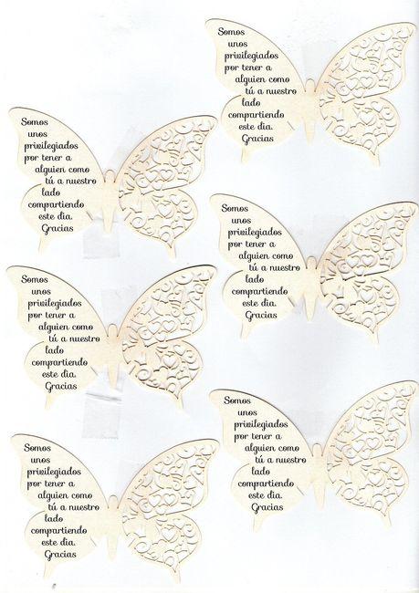 Mariposas De Agradecimiento Manualidades Foro Bodasnet
