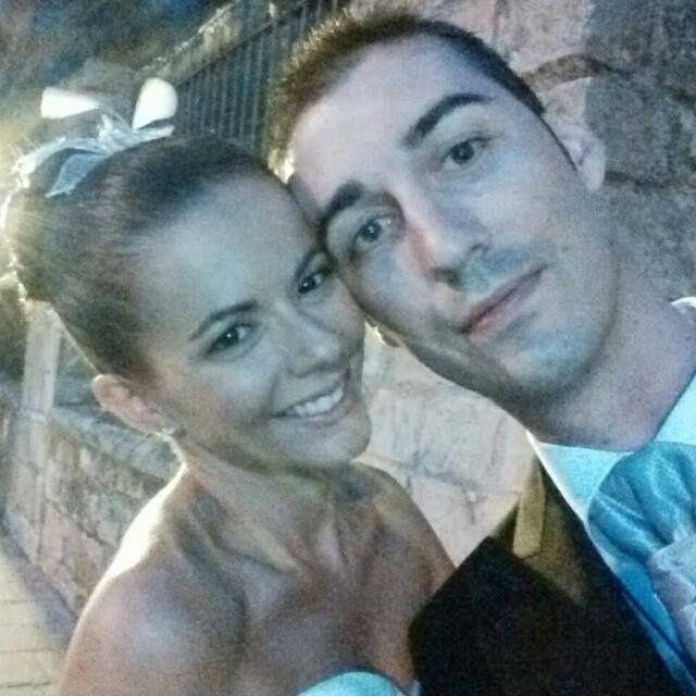 Primera foto como marido y mujer