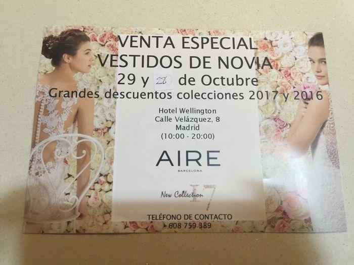 venta especial vestidos de novia - madrid - foro bodas
