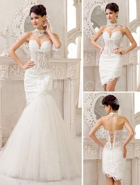 Vestido de novia 2 en uno