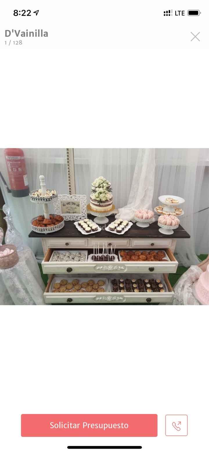 Precio tarta y mesa dulce - 1