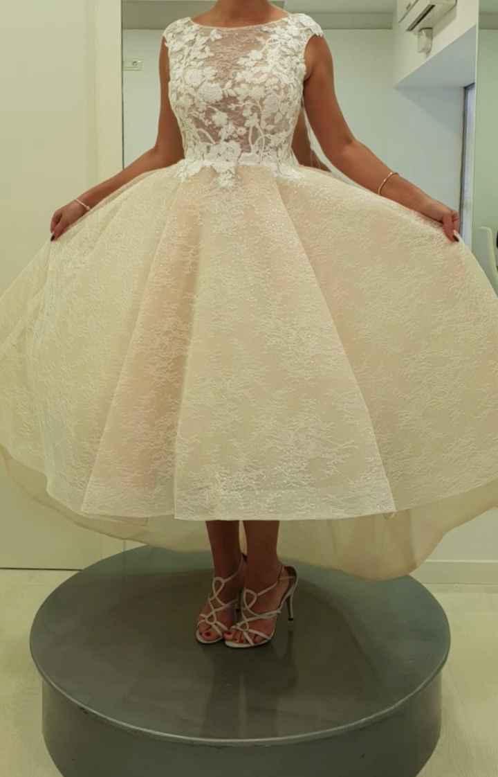 Vestido de novia para firmar en el juzgado - 1