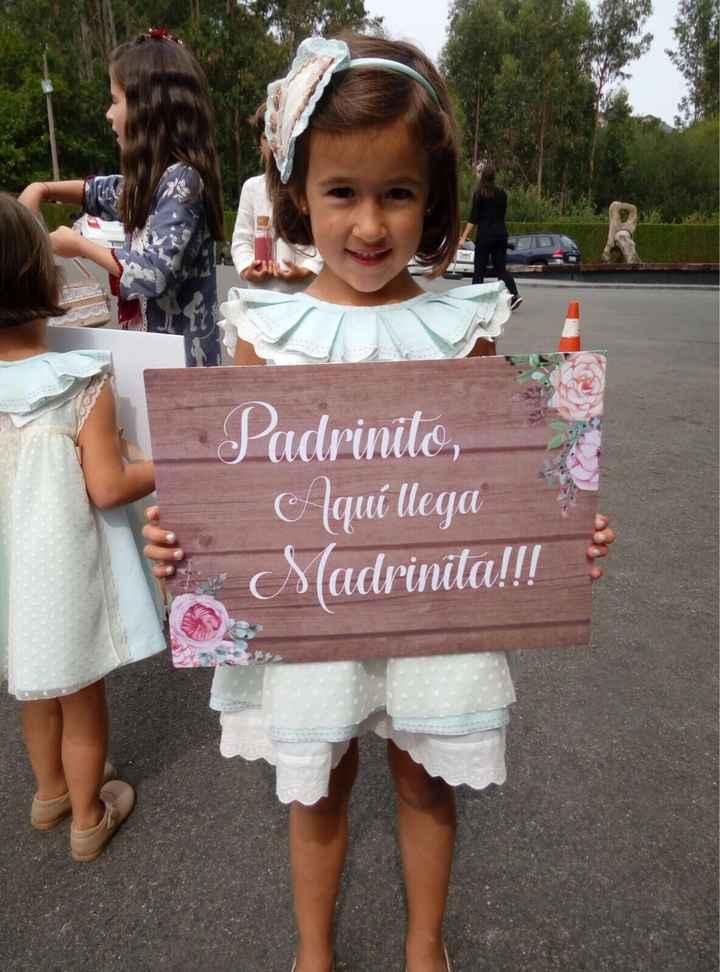 Mensaje para cartel del niño de arras para anunciar a la novia - 1