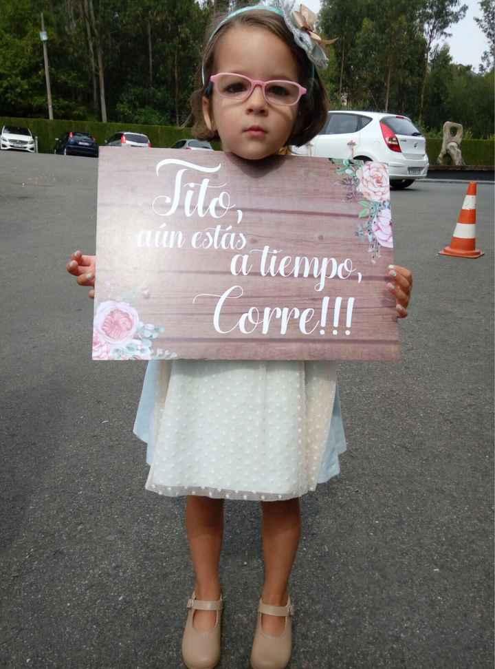 Mensaje para cartel del niño de arras para anunciar a la novia - 2