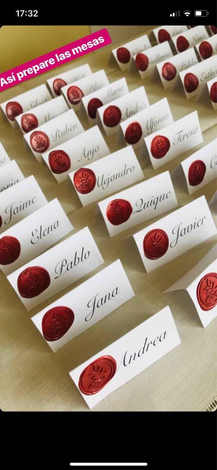 Nombre invitados en la mesa - 1
