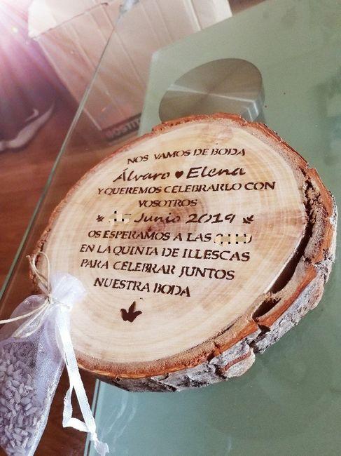 Invitaciones en madera 1