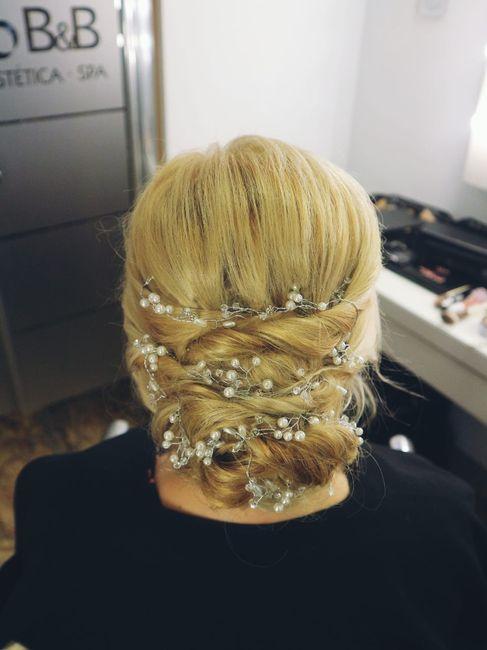 Prueba de peinado!!Muy contenta 😍 1