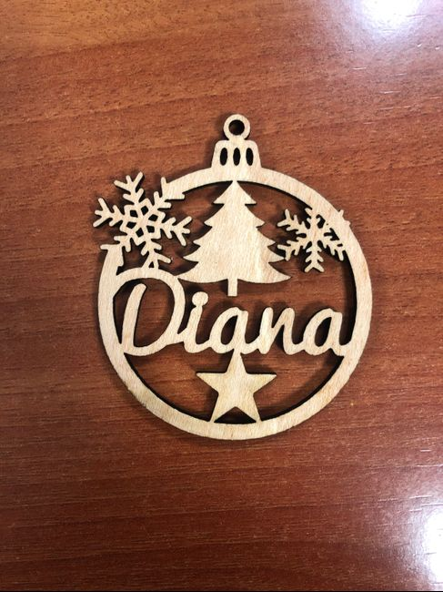 Bolas de navidad para el árbol y marca sitios 1
