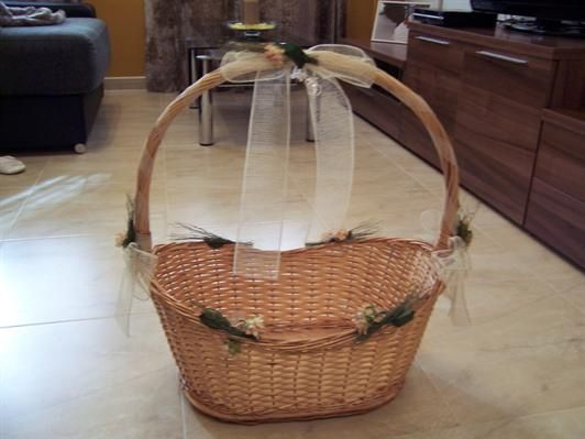 fotos cestas decoradas para bodas imagui