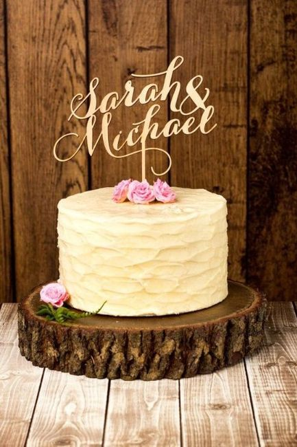 Hoy le doy el Sí, Quiero a este CAKE TOPPER 2