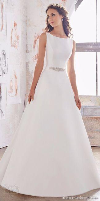 Vestidos de novia sencillos 2019