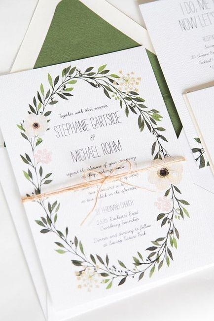 5 faire-part pour un mariage printanier, choisis ! 4