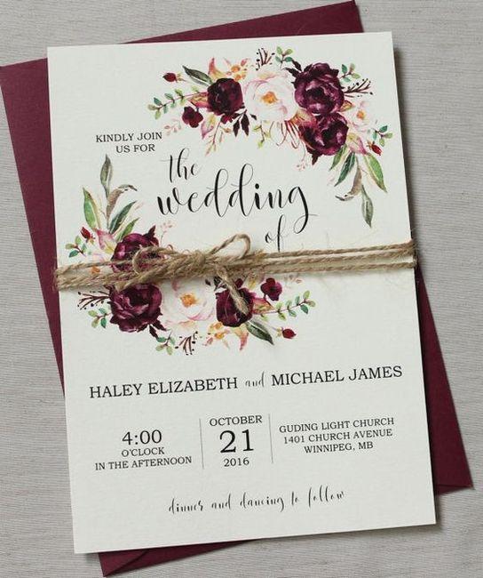 5 faire-part pour un mariage printanier, choisis ! 5