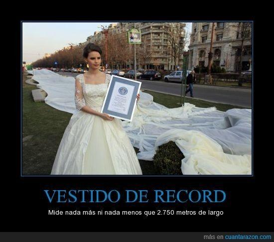 el vestido con la cola más larga del mundo, - bodas famosas - foro