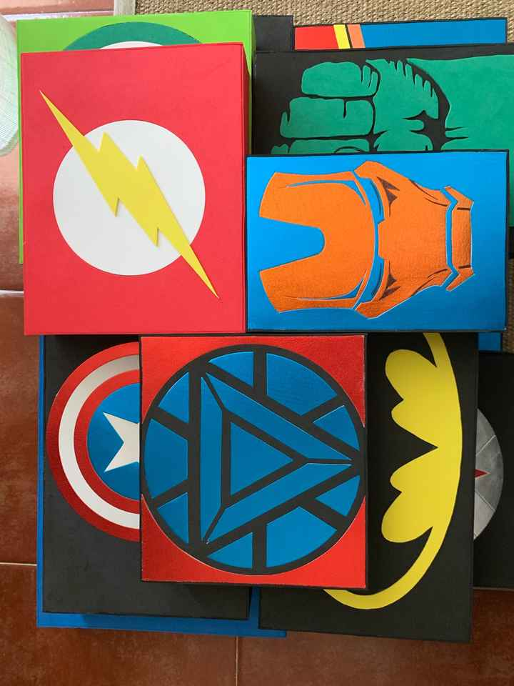 Boda superhéroes: ¡parte de la decoración! - 4