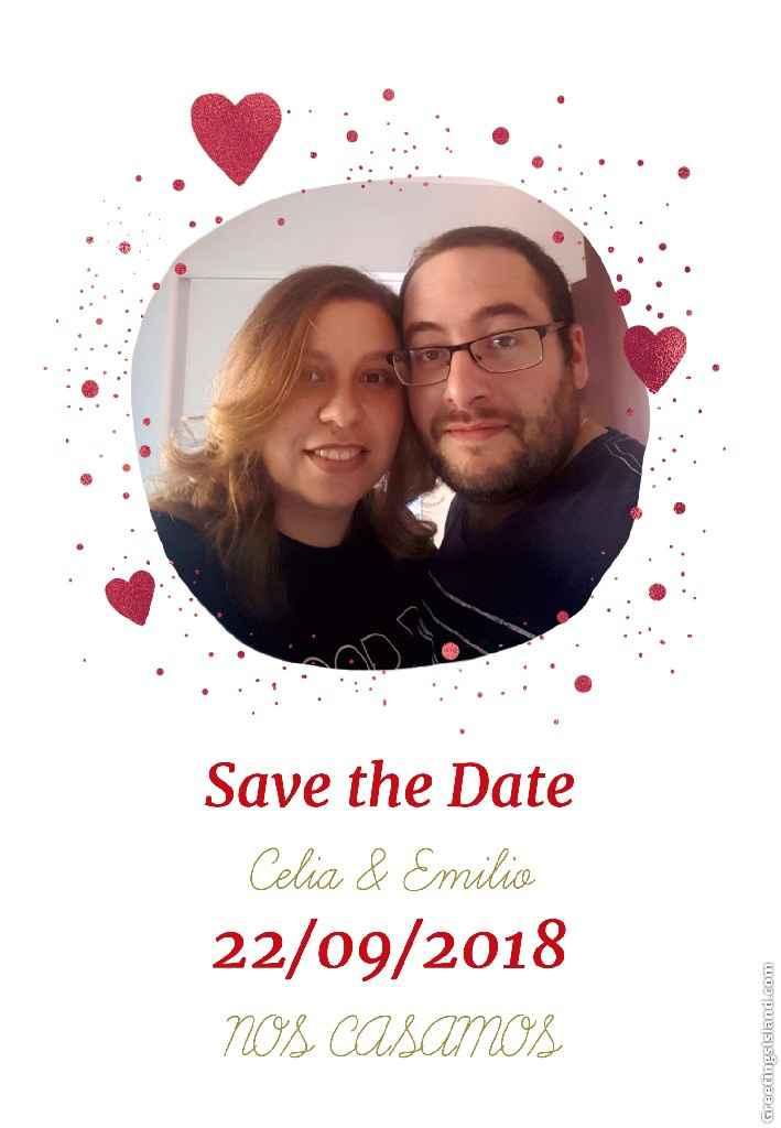 Save the date..con cual os quedaríais??? - 1