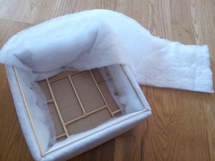 Cajas forradas de tela manualidades foro for Forrar cajas de carton con tela