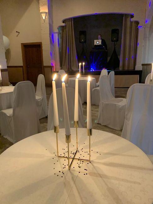 Velas para decorar las mesas del banquete: ¿Sí o no? 😊 4
