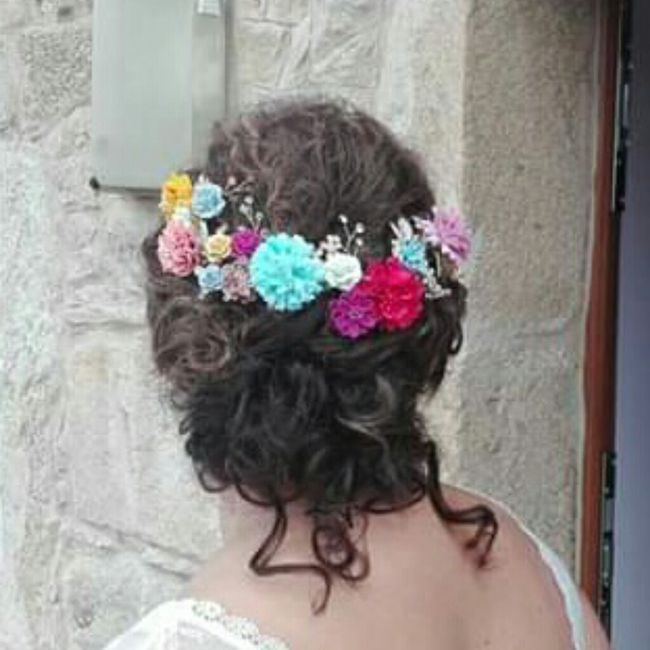 Peinados de novia con flores 🌺 1