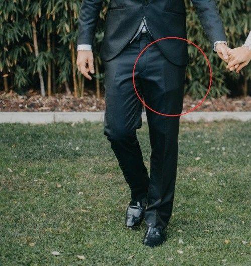 ¿Móvil en el bolsillo del traje del novio? 1