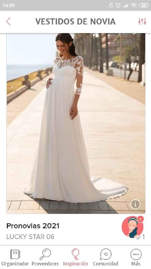 Vestido boda embarazada baratito - 1