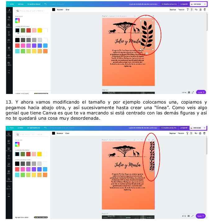 Instrucciones básicas Canva para crear tus invitaciones y demás papelería. 8