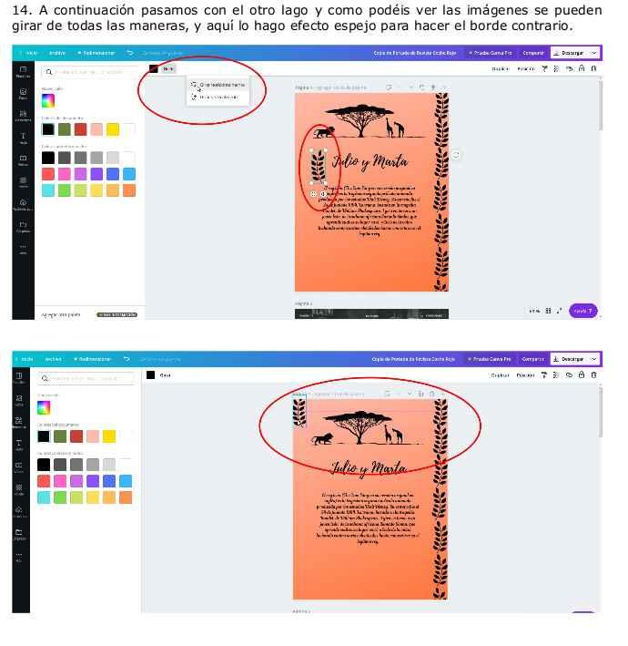 Instrucciones básicas Canva para crear tus invitaciones y demás papelería. 9