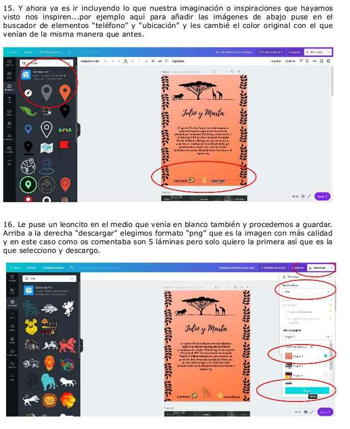 Instrucciones básicas Canva para crear tus invitaciones y demás papelería. 10