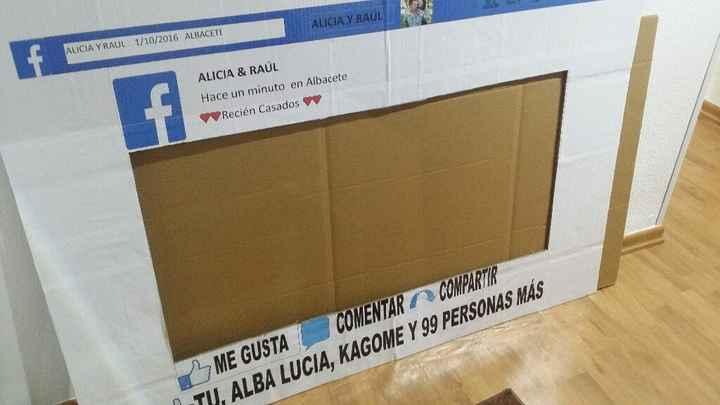 Mi marco de facebook ya en casa!!!y solo 15 euros!! - 1