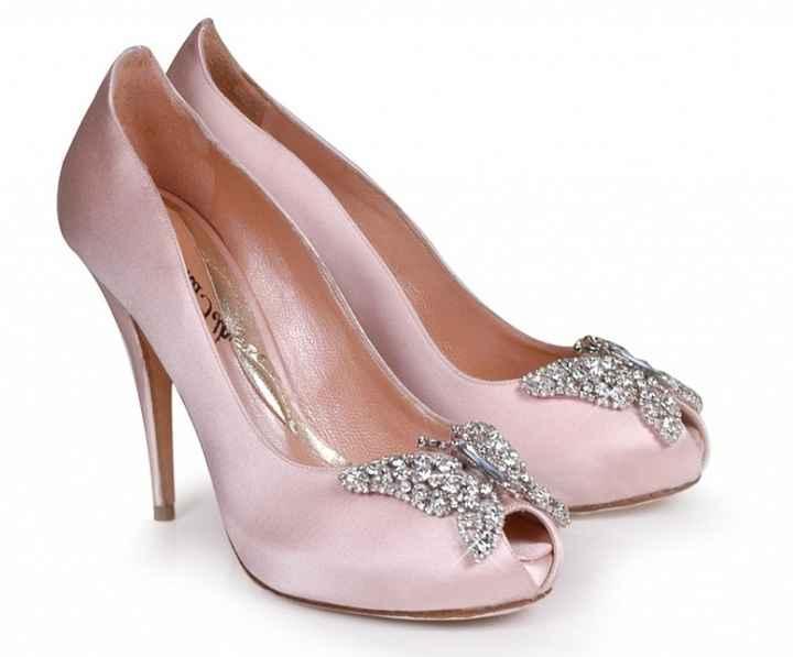Zapatos de novia en rosa - 1