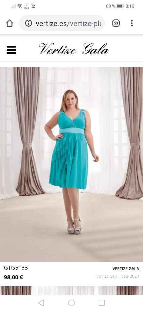 Vestido talla grande largo de fiesta - 2