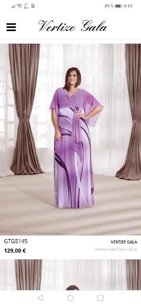 Vestido talla grande largo de fiesta - 3