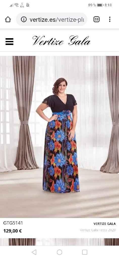 Vestido talla grande largo de fiesta - 4