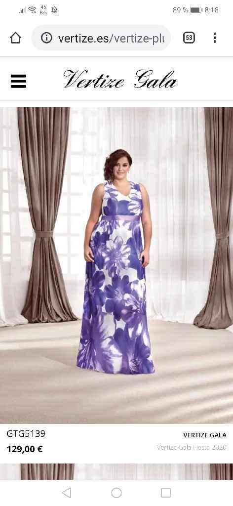 Vestido talla grande largo de fiesta - 5