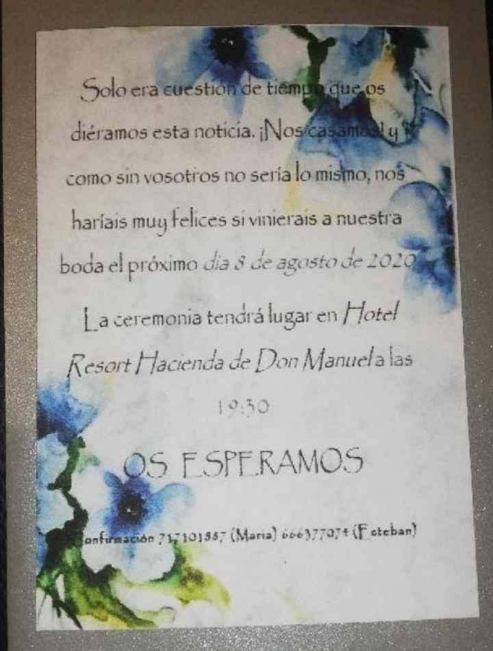 Invitaciones hechas por nosotros - 1