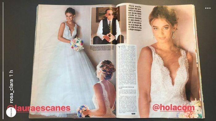 vestido de laura escanes de rosa clara - bodas famosas - foro bodas