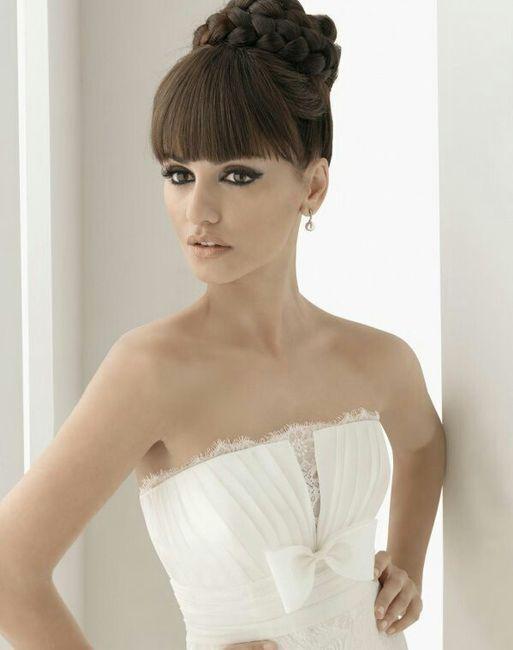 Peinados para boda con flequillo recto