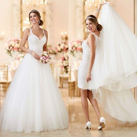 daacd5873 7 vestidos con faldas desmontables - Moda nupcial - Foro Bodas.net