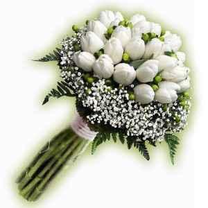 Ramo tulipanes blancos 2
